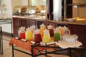 Breakfast options available to guests at Lake Kivu Serena Hotel