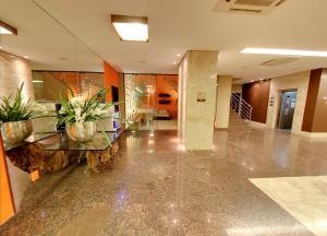 O saguão ou recepção de Hotel Taiamã