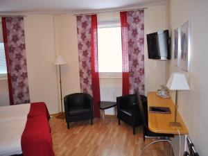 En sittgrupp på Hotell Linnéa