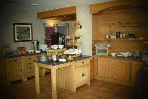 A kitchen or kitchenette at Hôtel de L'Arve