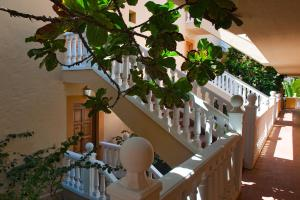 A balcony or terrace at Elba Lucía Sport & Suite Hotel