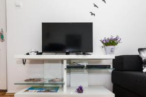 A television and/or entertainment centre at Bagi apartment in old town center