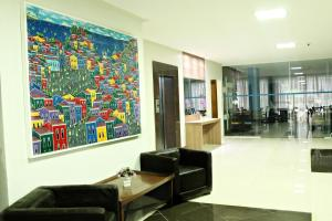 The lobby or reception area at Hit Hotel