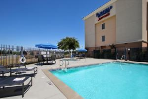 The swimming pool at or near Fairfield Inn & Suites Fresno Clovis