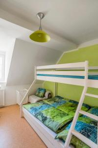 A bunk bed or bunk beds in a room at Abertamy Klara Apartment