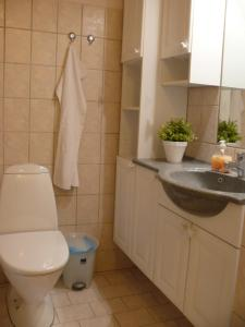 A bathroom at Tiendegaarden Apartments Møn