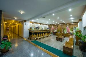 The lobby or reception area at Crown Prince Hotel