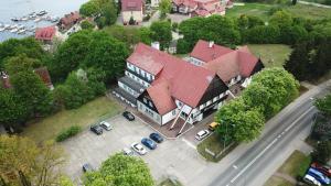 Widok z lotu ptaka na obiekt Zajazd Pod Kasztanami