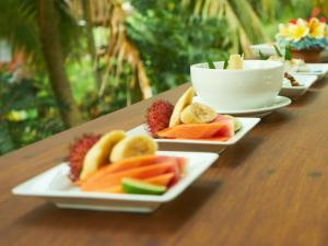 Breakfast options available to guests at Eden House Ubud