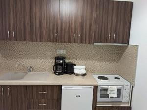 Η κουζίνα ή μικρή κουζίνα στο Villa Dorita Luxury Apartments