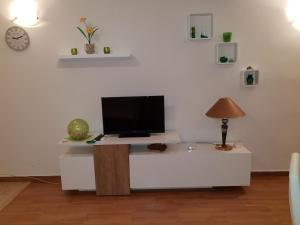 A television and/or entertainment centre at Apartment Lju on the Beach