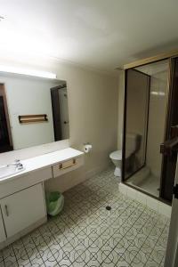 A bathroom at Macquarie Towers 17 1 Waugh Street