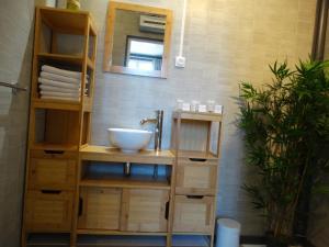 Salle de bains dans l'établissement Résidence Fleur des Pins - Gites & Chambres d'Hôtes