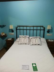 Cama o camas de una habitación en Casa de Aldea El Valle