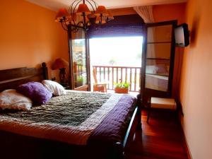 Cama o camas de una habitación en Casa Rural Telleri