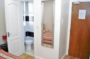A bathroom at The Dharma Lodge