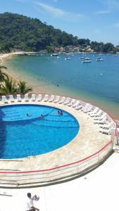 A view of the pool at Angra inn, Angra dos Reis or nearby