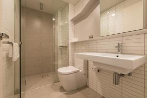 A bathroom at APC on La Trobe