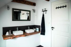 Et badeværelse på Andelen Guesthouse