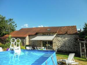 The swimming pool at or near Cozy Holiday Home in Marsac France with Swimming Pool