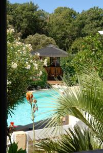 A view of the pool at Le Mas Des Oliviers En Provence Verte or nearby