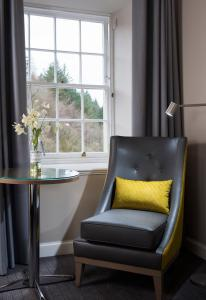 A seating area at New Lanark Mill Hotel