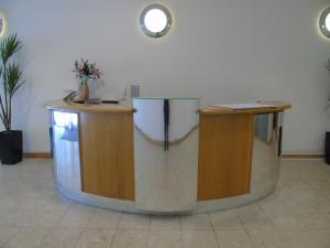 The lobby or reception area at Glasgow Lofts Serviced Apartments