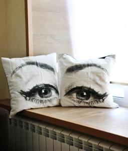 Кровать или кровати в номере Apartment WELCOME on Surkova 20/6