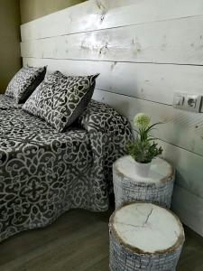 Cama o camas de una habitación en Posada de la plata