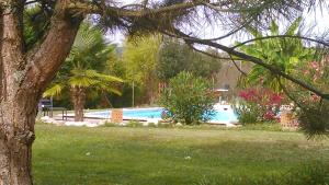The swimming pool at or near Chambre d'hôtes Mas Castel