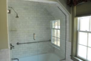 A bathroom at The Lyme Inn