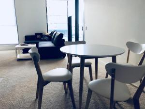 A seating area at *super* one bedroom