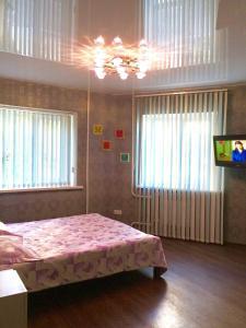 Кровать или кровати в номере 2-х комнатная квартира на Набережной, у Волги