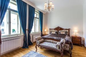 Postel nebo postele na pokoji v ubytování Karlsbad Prestige