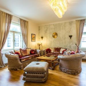 Posezení v ubytování Karlsbad Prestige