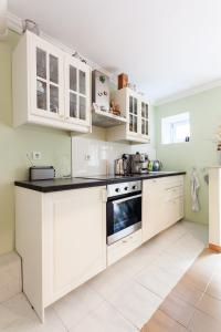 A kitchen or kitchenette at Guest house Galeb