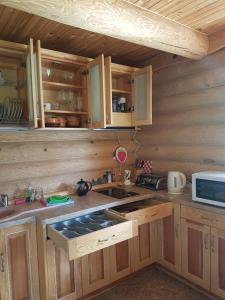 Köök või kööginurk majutusasutuses Augšdzintari