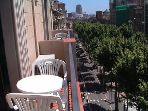 Balcon ou terrasse dans l'établissement Hotel Toledano Ramblas