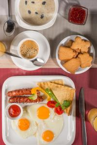 Breakfast options available to guests at Futuro Hotel Bishkek