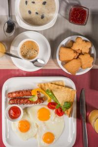 Завтрак для гостей Futuro Hotel Bishkek