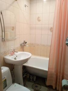 A bathroom at Apartment on Lenina 5 A