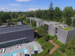 A bird's-eye view of Topping Rose House