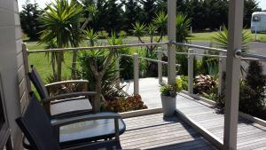 A balcony or terrace at Bass Coast Country Cottages