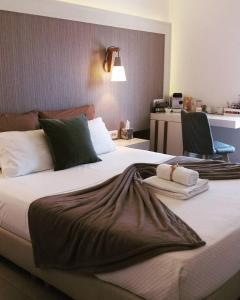Cama o camas de una habitación en Platia