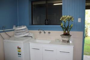 A bathroom at SEABREEZE