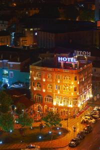 A bird's-eye view of The Red Bricks Hotel