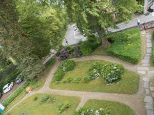 Blick auf Kurheim Haus Linde aus der Vogelperspektive