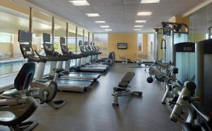 The fitness center and/or fitness facilities at Macon Marriott City Center