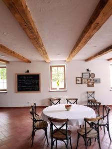 Dining area in a panziókat