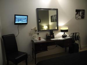 A television and/or entertainment center at The Lodge